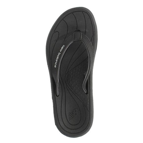 Black Cushioned Flip Flop Sandals